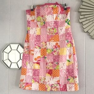Lilly Pulitzer Butterfly & Flowers Patchwork Dress